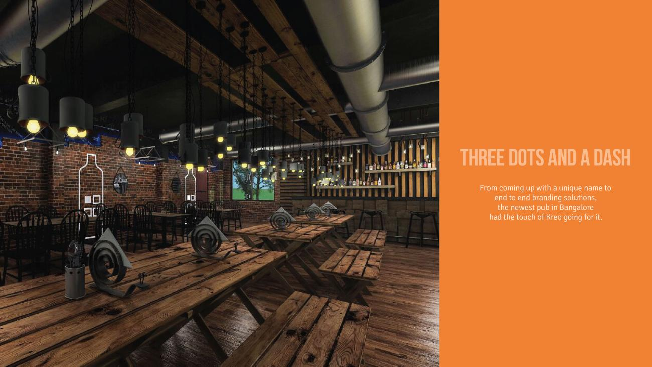 Tiki bar design and branding for Three dots & a dash