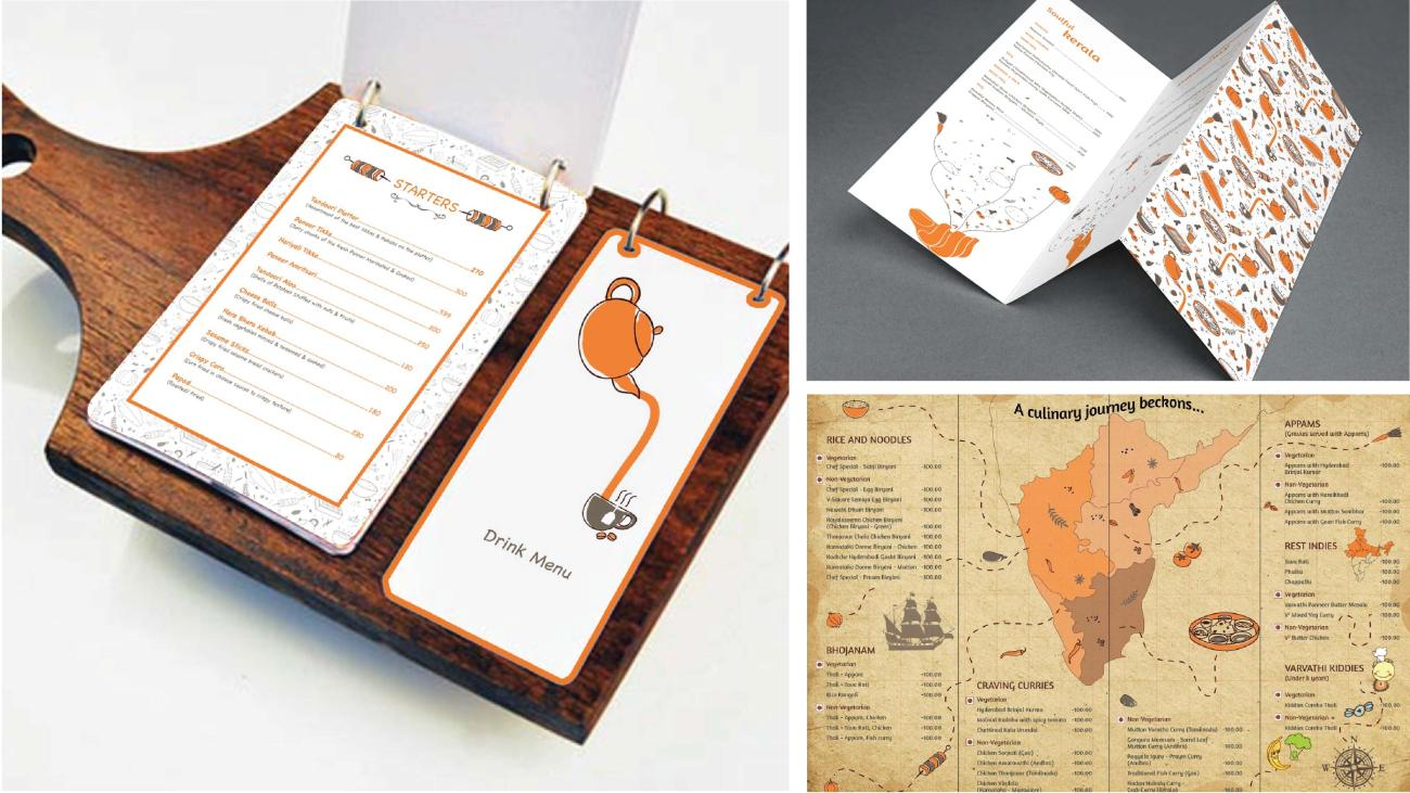 kreo design Branding_Menu cards