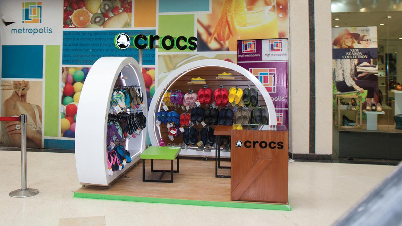 Product Display designed by Kreo Design & Innovation as a part of Retail Design for Crocs