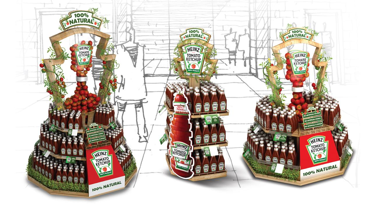 Props & Styling as a part of Retail Design for Heinz