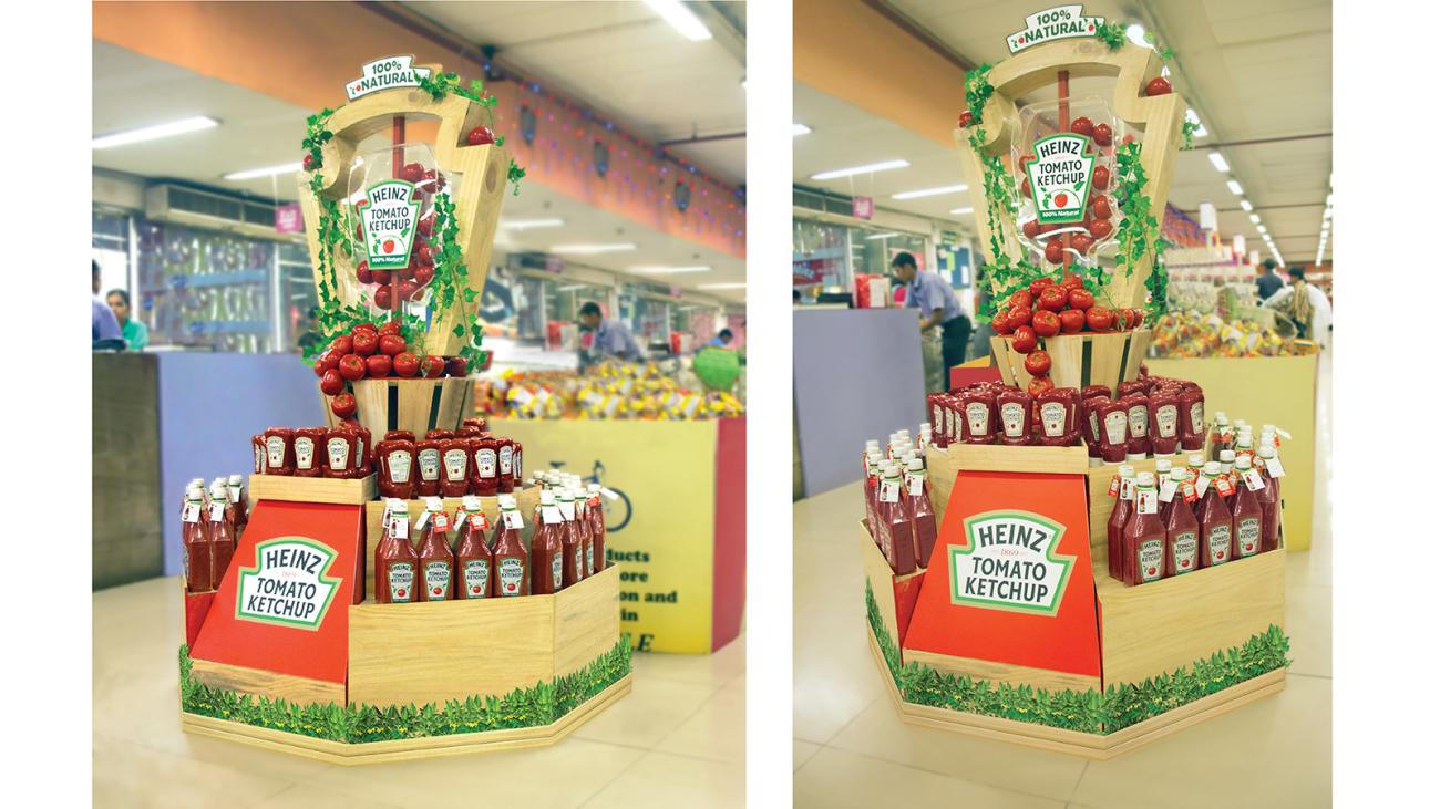 End cap design as a part of Retail Design for Heinz