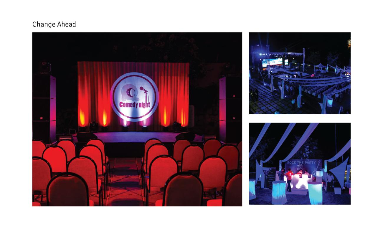 Podium Design for cultural evening programmes